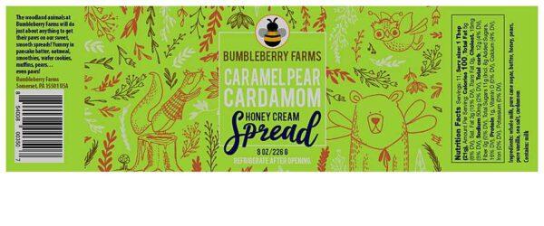 Caramel Pear Cardamon Honey Cream Spread