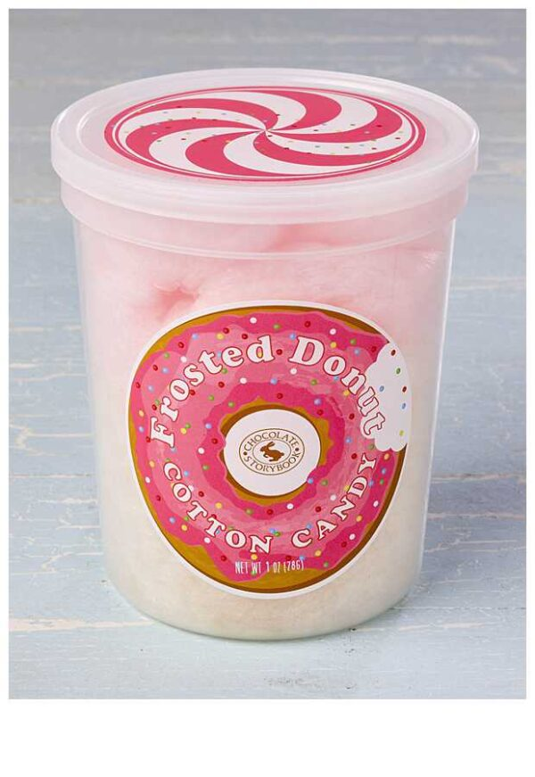 Frosted Donut Cotton Candy