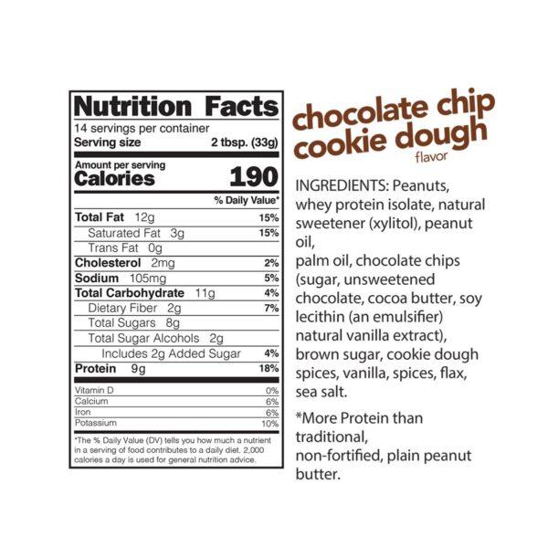 Chocolate Chip Cookie Dough Peanut Butter Spread