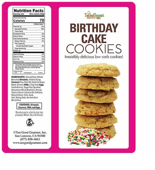 Too Good Gourmet Keto Birthday Cake Cookies