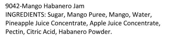 Terrapin Ridge-Mango Habanero Jam-ingredients