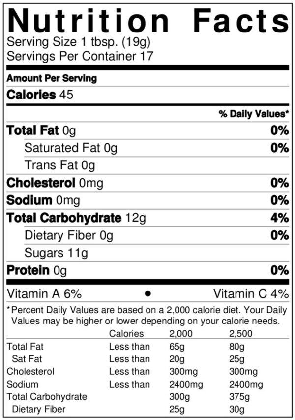Terrapin Ridge-Mango Habanero Jam-nutrition