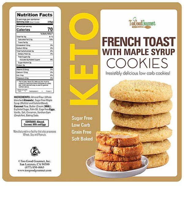 Too Good Gourmet Keto French Toast Cookies