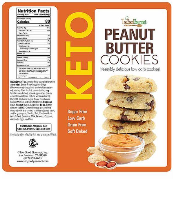 Too Good Gourmet Keto Peanut Butter Cookies
